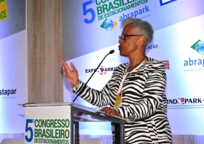 Kim Jackson, atual presidente do IPI, abriu a IPI International Parking Conference