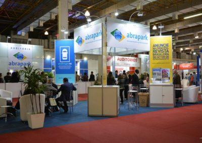 Estande Abrapark durante a ExpoParking 2016