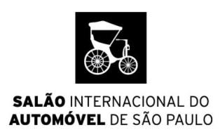 08 a 18/11/2018 – Salão Internacional do Automóvel de São Paulo 2018