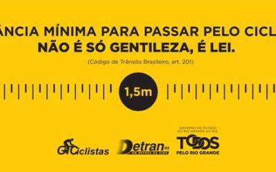Detran RS promove Dia de Mobilização pela Segurança do Ciclista
