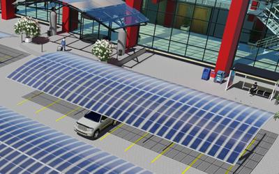 Estacionamento a baixo custo gera sua própria energia