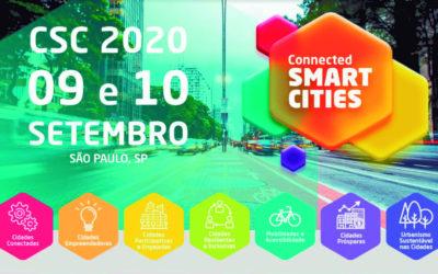 Connected Smart Cities 2020 ocorre em SP em setembro